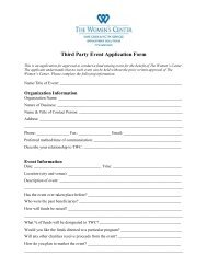 Third Party Event Application Form