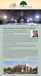 Dear Friends of St. Norbert College: - Giving to St. Norbert