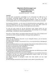 Allgemeine Bestimmungen zum Generhaltungsprogramm Original ...