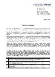 Freedom to operate (.pdf) - ingb-burggraef.de
