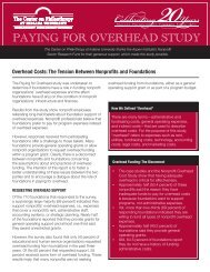 Overhead Costs: The Tension Between Nonprofits and ... - ASPH