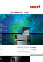 Memmert Waterbaths and Oilbaths