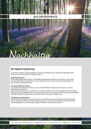 Produkteblatt Naturpräparate (PDF) - Visona Swiss