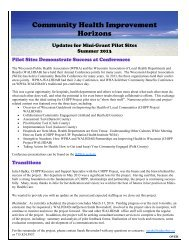 Summer 2013 - Wisconsin Association of Local Health Departments ...