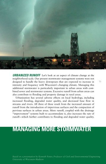 managing more stormwater - University of Wisconsin Sea Grant ...