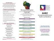 Strengthening Wisconsin's Health Care Workforce Wisconsin AHEC ...
