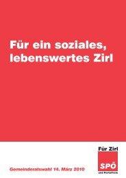 Für ein soziales, lebenswertes Zirl - Für Zirl - SPÖ