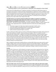 AHEC State Funding Request - Wisconsin Area Health Education ...