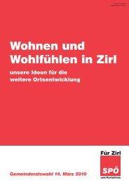 Wohnen und Wohlfühlen in Zirl - Für Zirl - SPÖ