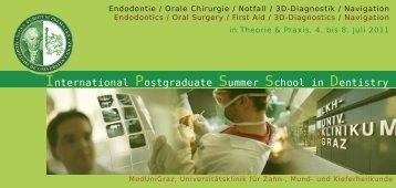 International Postgraduate Summer School in Dentistry
