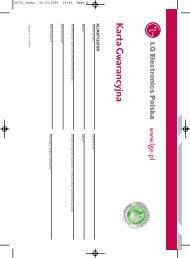 Instrukcja obsługi klimatyzator ścienny LG - Klimatyzacja - FORTE