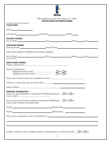 Employment Form Ordekeenfixenergy