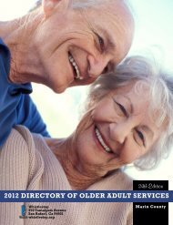 2012 DIRECTORY Of OLDER ADULT sERvICEs