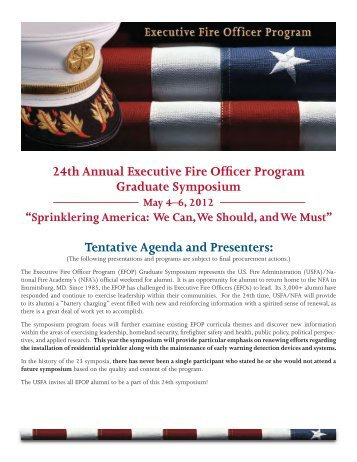 24th Annual Executive Fire Officer Program Graduate Symposium ...
