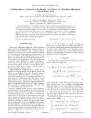 Global properties of spherical nuclei obtained from Hartree-Fock ...