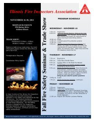 F all F ire Safety Sem inar & T rade Show - Fire Sprinkler Assoc ...