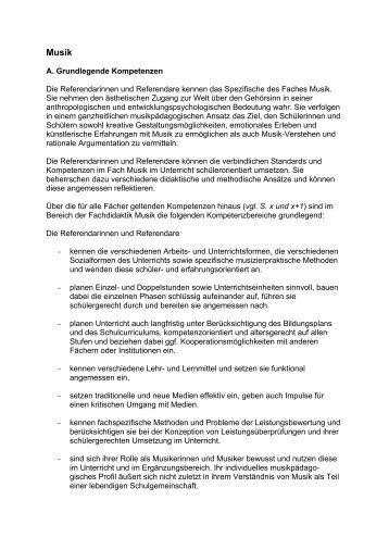 A. Grundlegende Kompetenzen Die ... - Schulmusiker.info