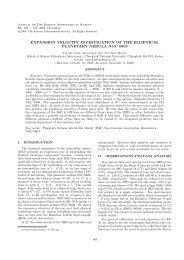 expansion velocity investigation of the elliptical planetary nebula ...