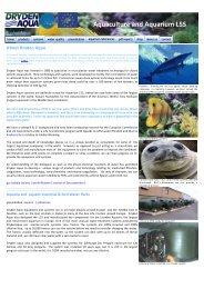 Aquaculture and Aquarium LSS - Dryden Aqua Ltd