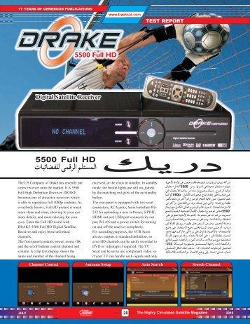 DRAKE 5500 Full HD - Dish Channels - International Satellite ...