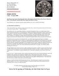 Zero Zone press release - Tracy Williams, Ltd.
