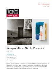 Simryn Gill and Nicole Cherubini - Tracy Williams, Ltd.