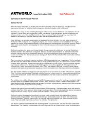 ARTWORLD - Issue 5, October 2008 - Tracy Williams, Ltd.