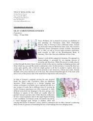 Press Release - Tracy Williams, Ltd.