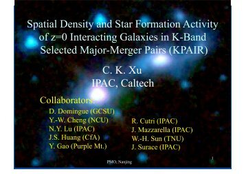 Spatial Density and Star Formation Activity fo z=0 ... - (SFIG) of PMO
