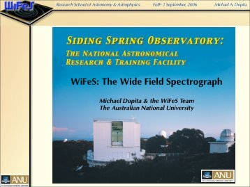 WiFeS: The Wide Field Spectrograph - (SFIG) of PMO