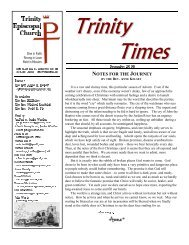 Trinity Times - Trinity Episcopal Church