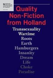 Quality Non-Fiction from Holland 2013 - Nederlands Letterenfonds