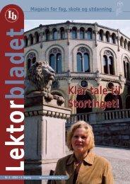 Lektorbladet 4 2004 - Norsk Lektorlag