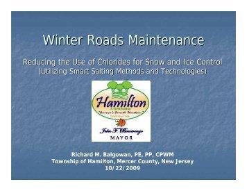 Winter Roads Maintenance