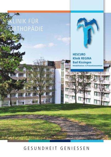 Klinik für Orthopädie - HESCURO - Klinik REGINA - Bad Kissingen - 02/15