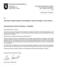 Abschlußbericht Kreisliga Schüler A 2004/2005