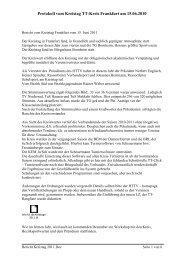 Protokoll des Kreistages 2011
