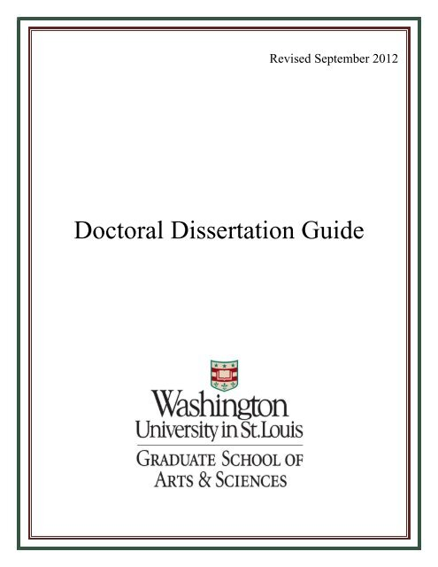 wustl dissertation guidelines