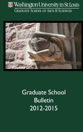 Graduate School Bulletin 2012-2015 - Department of History