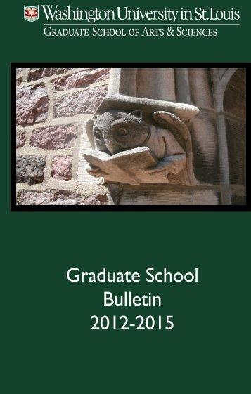 Graduate School Bulletin 2012-2015 - Department of History