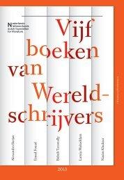 Vijf-boeken-van-wereldschrijvers (Pdf file) - Nederlands Letterenfonds