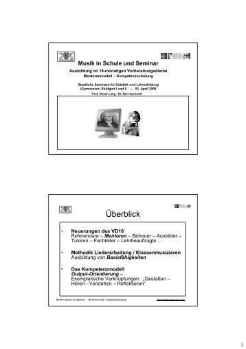 Musik-Mentoren im VD18 - Schulmusiker.info