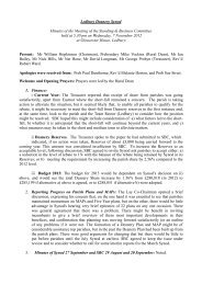 Minutes of Standing and Business Committee 7 November 2012
