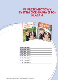 VI. PRZEDMIOTOWY SYSTEM OCENIANIA (PSO) KLASA 4