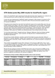STR Global posts May 2009 results for Asia/Pacific ... - Hotel Designs
