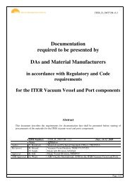 Documentation required to be presented by DAs and ... - Iter Industry