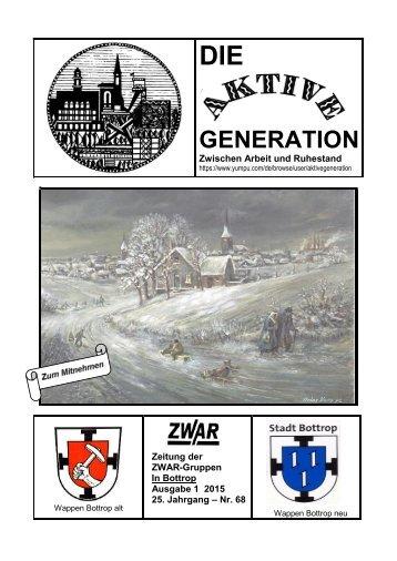 Aktuelle ZWAR-Zeitung Ausgabe 1 2015