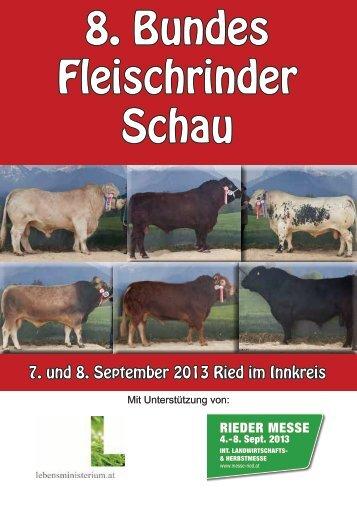 8. Bundes Fleischrinder Schau - ARGE Fleischrinder