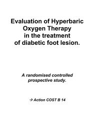 Evaluation of Hyperbaric Oxygen Therapy in  the treatment of - Oxynet