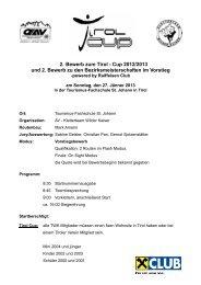 2. Bewerb zum Tirol - Cup 2012/2013 und 2. Bewerb zu den ...
